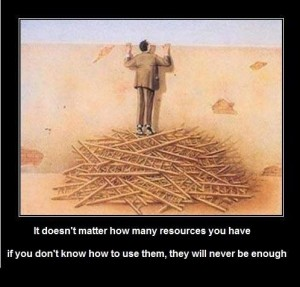 Learn to utilise resources right